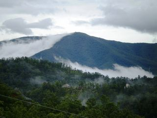 "Wears Valley cabin photo - The ""Smoky Mountains"" from the upper deck"