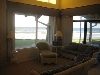 New Smyrna Beach townhome photo - Den with Captivating Views of the Atlantic