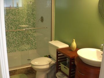 adjacent apartment's bathroom