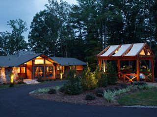 Weaverville lodge photo - View of Lodge and Lights at Night