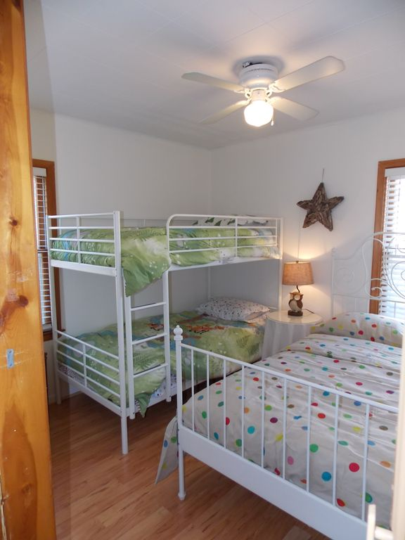 Second Bedroom. Twin Bunk Beds and Full Size Bed.