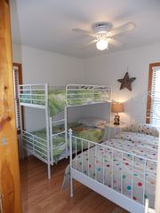 Harbor Beach cottage photo - Second Bedroom. Twin Bunk Beds and Full Size Bed.