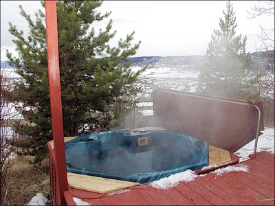 Private Hot Tub on your back deck with views of the Yampa Valley.