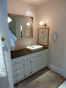 Master bath is large and functional.