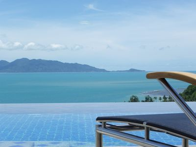 Bang Po beach villa rental - View to Koh Phangan
