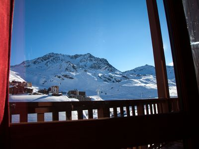 Val Thorens apartment rental - South-east mountain view on Peclet pick