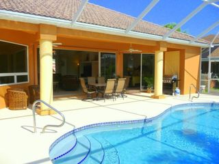 Cape Coral house photo - Pool, lanai and great room