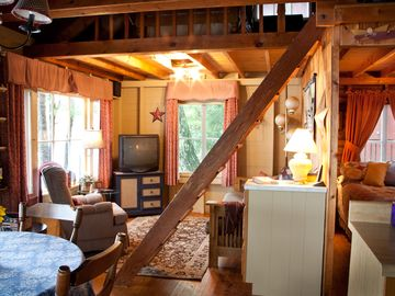 Living Area - Classic Maine Camp.