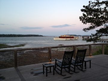 Enjoy a peaceful evening or gorgeous sunrise overlooking the May River.