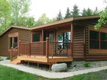 Willmar cabin rental - This comfortable cabin sleeps 6-8. Front deck enjoys lake views.