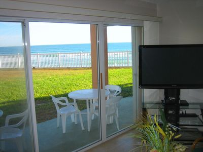 Living Room with View of the Ocean and HD Plasma TV