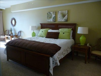 Master Bedroom with New King Bed