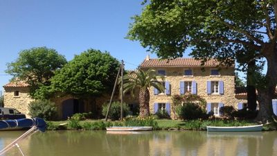 Gite Maison Vigneronne Somail on the Canal du Midi 25km from the Mediterranean