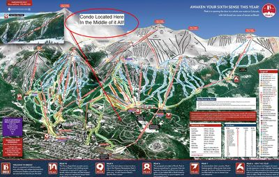 Trail Map and Condo Location - Gold Camp on Peak 8