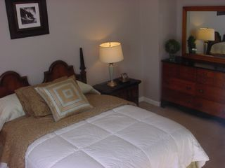 Duluth house photo - Queen bed, Phone service, alarm clock,fan,closet,and1/2 bathroom.