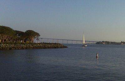 This picture was taken at Seaport Village looking at the Coronado Bridge