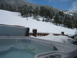 Big Sky cabin photo - Hot Tub on deck