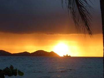 View of St. John at sunrise.