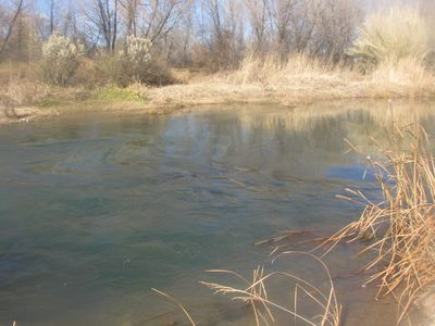 Verde River in winter backing the property