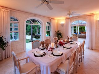 Sandy Lane villa photo - Dining room seats 10 for delicious meals and quality family time