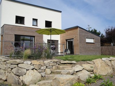 New wooden house near the sea Tregastel 6 pers