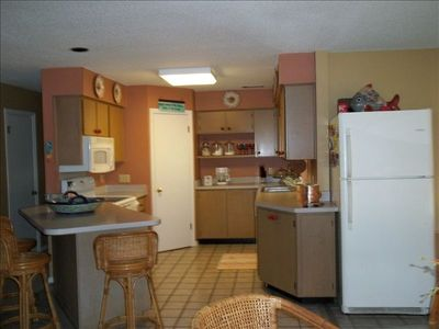 Spacious well equipped kitchen, open to greatroom areas so you can chat!