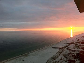 Fort Morgan condo rental - Sunset from the Lanai