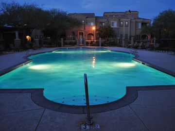 Desert Ridge Scottsdale condo rental - Great view sitting at the fireplace in the gathering area by the BBQ/Grill.