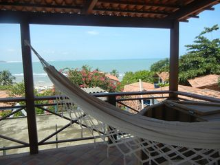 Pipa e Tibau do Sul apartment photo - Renovated roof top deck with hammock