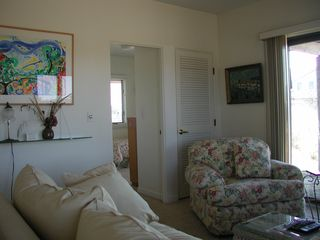 North Truro house photo - Den looking into one twin bedroom