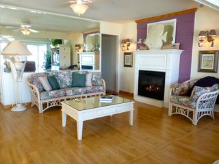 Slaughter Beach house photo - Enjoy the cozy gas fireplace on cool fall or winter evenings