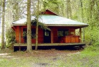 Exterior view of the cabin.