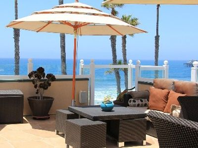 Oceanside villa rental - Luxury roof top with views of ocean & pier.This rooftop deck tops all others