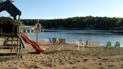 The Sandy Beach Playground and Lake Swimming area is just a short walk away