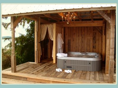 Hot Tub Cabana with Outdoor Shower