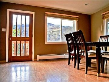 Intermountain house rental - Dining area with a peaceful view of the mountains