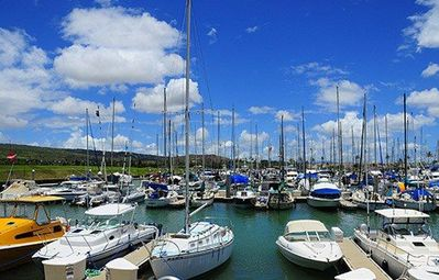 Ko Olina Marina offers many charters for deep sea fishing, snorkel, scuba, etc.