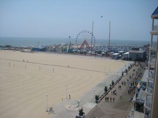 Belmont Towers Ocean City condo photo - Ocean view looking south at the boardwalk rides