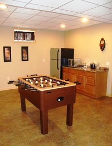 Foosball Table with Wet Bar
