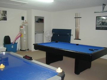 Games room complete with table tennis, air hockey, and pool table!