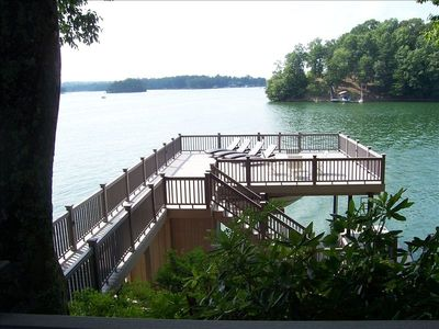View of 2-tier Dock from House