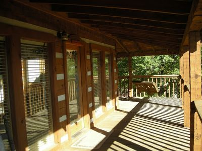 Pigeon Forge cabin rental - Spacious deck