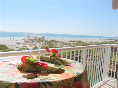 Enjoy the ocean from the balcony, couch, or master bed!