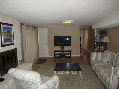 Hot Springs house rental - Downstairs living area with 50