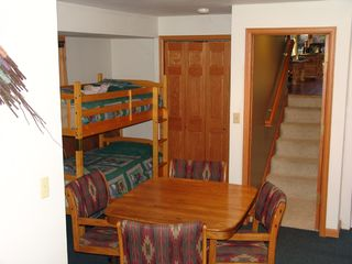 Steamboat Springs townhome photo - Game Room w/bunk bed-TV-DVD-Playstation ll & W/D,shower w/bath, Boot/glove dryer