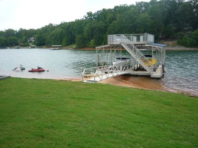Two story aluminum dock with sun deck