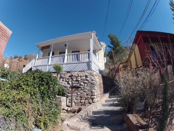 Bisbee cottage rental - El Cielito is located up 25 of Bisbee's famous stairs & offers beautiful views.