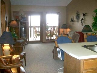 Branson West condo rental - View of living room at the ranch