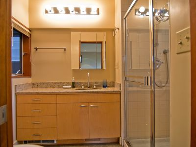 Ensuite bathroom with view shower.
