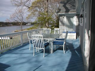 Southold house photo - Large spacious deck with spectacular veiws